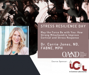 Carrie Jones Stress Resilience Day graphic